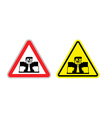 Warning sign of attention angry boss Dangers vector image