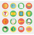Modern flat icons design for business and finance vector image