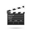 realistic cinema clapper isolated on white vector image