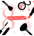 8 march greeting card international women vector image