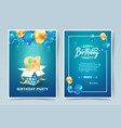 91st years birthday invitation double card vector image vector image