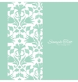 abstract green ikat vertical frame seamless vector image vector image