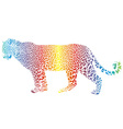 abstract rainbow leopard vector image vector image