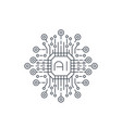 artificial intelligence ai technology line icon vector image vector image