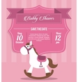 Baby Shower design horse icon pink vector image vector image