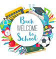 back to school round banner vector image