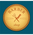 banner Leather label barber shop logo vector image