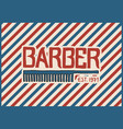 barbershop badge label logo hipster emblem for vector image