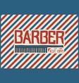 barbershop badge label logo hipster emblem vector image vector image
