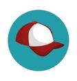 baseball cap uniform icon vector image vector image