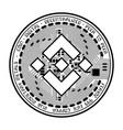 binance coin black silhouette vector image