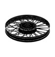 black spoke wheel vector image vector image