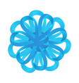 blue celebration bow vector image