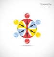 Business Teamwork cooperation icon vector image vector image