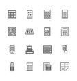 calculation - flat icons vector image vector image