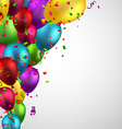 Celebrate background with balloons vector image vector image