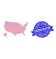 collage of gradiented dotted map of usa vector image vector image