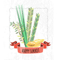 collection of labels and elements for Sukkot vector image
