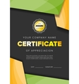 Color certificate design vector image vector image