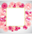 cute background with frame and flowers collection vector image vector image