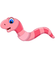 cute worm cartoon smiling vector image vector image