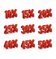 Discount numbers isometric 3d set vector image vector image
