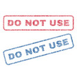 do not use textile stamps vector image vector image