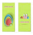 Easter backdrops vector image vector image
