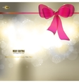 elegant christmas background with ribbon and place vector image