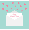 Envelope with hearts Happy Valentines Day vector image vector image