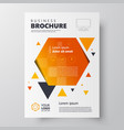 flyer brochure design template geometric theme vector image vector image