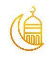 half moon mosque temple ramadan arabic islamic vector image