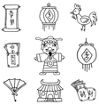Hand draw of Chinese celebration element doodles vector image vector image