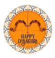 happy dussehra celebration festival decorative vector image