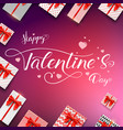 happy valentines day calligraphic handwritten vector image vector image