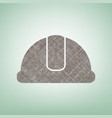 hardhat sign brown flax icon on green vector image vector image