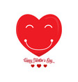 heart shape emoticon valentine day vector image vector image