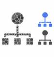 hierarchy mosaic icon circles vector image vector image