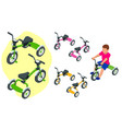 isometric children s tricycle isolated on white vector image vector image