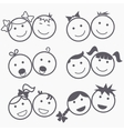 Kids icons vector image