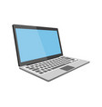 laptop flat detailed icon vector image vector image