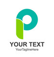letter logo modern abstract green icon letter vector image