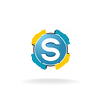Letter S tech logo vector image vector image