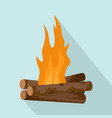 log cabin fire icon flat style vector image