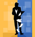 man viewing documents vector image
