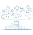 mobile banking concept with cloud technology vector image vector image