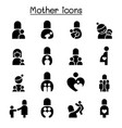mother icon set graphic design vector image
