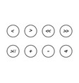 multimedia player controls icons comic or vector image