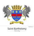 National flag of Saint Barthelemy with correct vector image