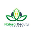 natural beauty logo design vector image